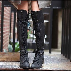 Jeffrey Campbell for Free People Black Joe Boots